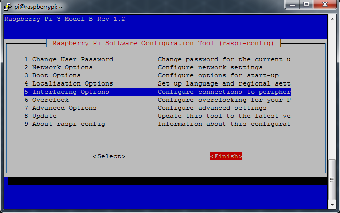 Raspberry Pi Software Configuration Tool Finish
