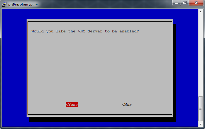 Raspberry Pi Interfacing Options Enable VNC